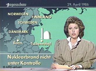 Die Tagesschau vom 29. April 1986: Reaktorunfall in Tschernobyl (Foto: ARD)