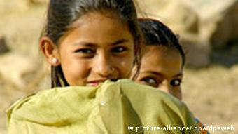 Two girls in India