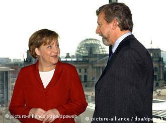 Во время встречи Александра Милинкевича с канцлером Германии Ангелой Меркель