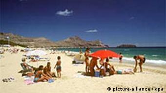 A sunny beach in Portugal