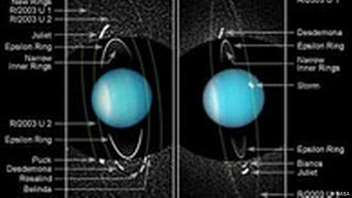 Newly Discovered Moons and Rings of Uranus