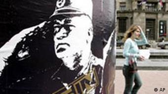 Ratko Mladic Poster in Belgrad