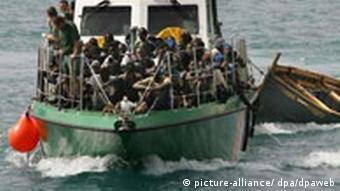 Elendsflüchtlinge aus Afrika