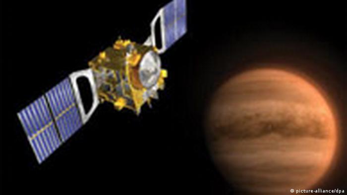 Raumsonde Venus Express vor der Venus