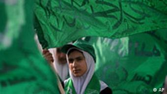 Eine junge Hamas-Anhängerin