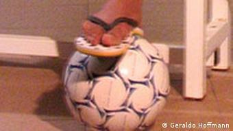 Ronaldinho und sein Freund der Deutsche Welle Ball