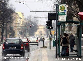 O local da agressão no centro de Potsdam