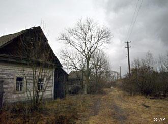 Заброшенный дом в чернобыльской зоне