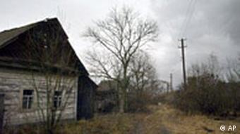 Tschernobyl verlassenes Haus in der Sperrzone