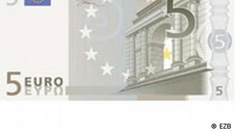 Front of five euro bill