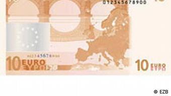 Reverse side of 10 euro bill