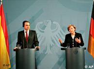 Премьер-министр Испании Хосе Луис Родригес Cапатеро и канцлер Германии Ангела Меркель