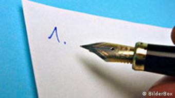 Symbolbild Liste schreiben