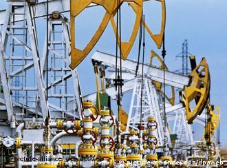 Yukos oil derricks