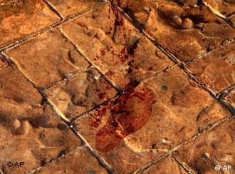 Ein blutiger Fußabdruck