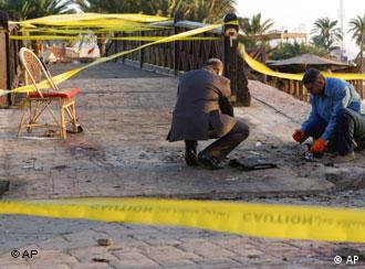 Three bombs ripped through the resort of Dahab on Monday