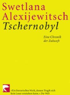 روی جلد یکی از کتابهای سوتلانا آلکسیویچ درباره چرنوبیل