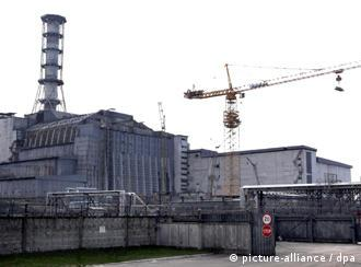 View of the Chernobyl nuclear plant in 2006.