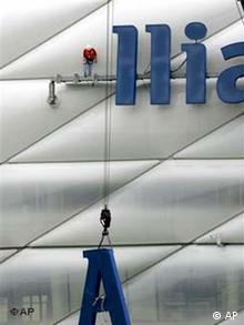 Allianz Arena - Vorbereitung für die Fussball-WM
