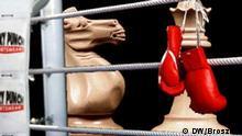 Symbolbild für Schachboxen, April 2006. Grafik:DW/Wolf Broszies