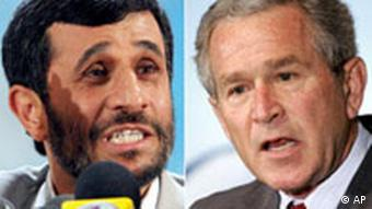 Kombo Iran USA Mahmoud Ahmadinedschad und George Bush
