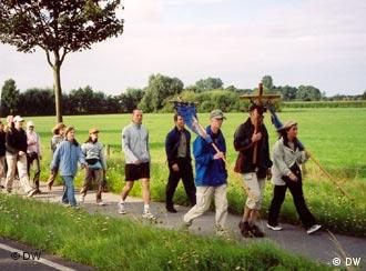 German pilgrims are on the road again