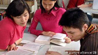 Chinesische Studenten in Chemnitz