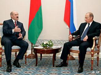 Путин и Лукашенко на переговорах