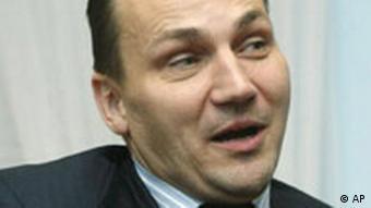 Radek Sikorski, polnischer Verteidigungsminister