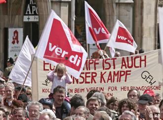 May Day rallies are a tradition in Germany