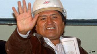 Bolivien verstaatlicht Erdgasfelder Evo Morales Titel