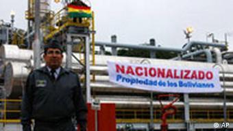 Bolivien verstaatlicht Erdgasfelder Petrobras (AP)