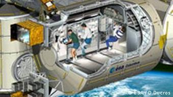Artist's rendition of Columbus lab