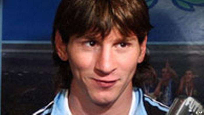 Sergio Agüero Lionel Messi Fußball Argentinien (AP)