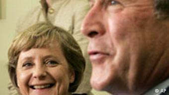 Angela Merkel bei George Bush in Washington