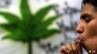Guy smoking marijuana