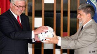 Frank Walter Steinmeier in Brasilien Celso Amorin
