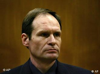 Armin Meiwes awaiting proceedings during his 2006 murder trial