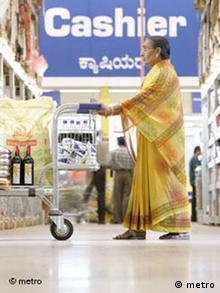 Metro-Supermarkt in Indien