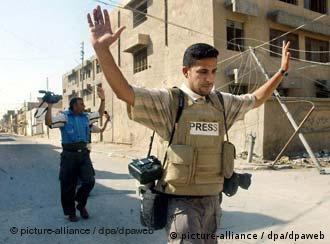 两名记者在伊拉克Nadschaf