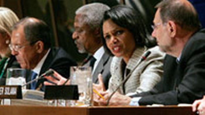 UN Sicherheitsrat zu Sudan und Iran Condoleezza Rice (AP)