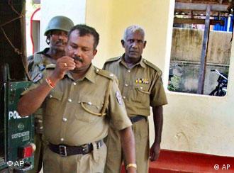 Die Polizei auf Sri Lanka ist in Alarmbereitschaft