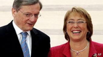 EU Lateinamerika Gipfel in Wien Wolfgang Schüssel und Michelle Bachelet