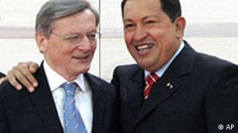 EU Lateinamerika Gipfel in Wien Wolfgang Schüssel und Hugo Chavez