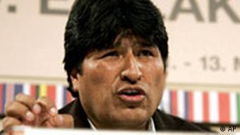 Evo Morales auf dem EU Lateinamerika Gipfel in Wien