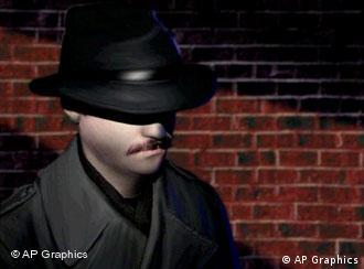 Graphic of a man wearing fedora, in gloomy light