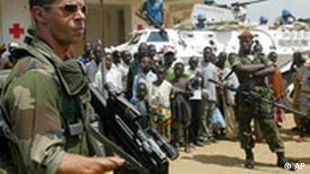 EU Soldaten in Bunia, Kongo (Quelle: AP)