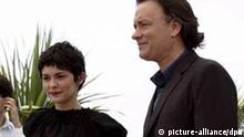 US actor Tom Hanks (R) and French actress Audrey Tautou pose during a photo call for the movie 'The Da Vinci Code' Wednesday, 17 May 2006, at the 59th Film Festival in Cannes. The world premiere of 'The Da Vinci Code' will open the 59th Cannes Film Festival Wednesday night. EPA/CHRISTOPHE KARABA +++(c) dpa - Report+++