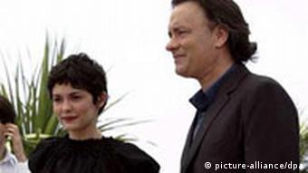 Audrey Tautou und Tom Hanks in Cannes, Sakrileg