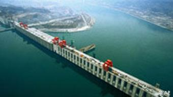 Aerial view of the Three Gorges Dam in Yichang, central China's Hubei Province. (AP Photo / Xinhua, Du Huaju)